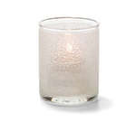 Hollowick 5176CI Tealight Lamp w/ Cylinder Style, 2.5x2-in, Glass, Clear Ice