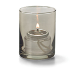 Hollowick 5176S Tealight Lamp w/ Cylinder Style, 2.5x2-in, Glass, Smoke Lustre