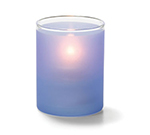 Hollowick 5176SDB Tealight Lamp w/ Cylinder Style, 2.5x2-in, Glass, Satin Dark Blue