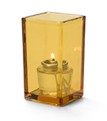 Hollowick 6109A Quad Votive Lamp For HD8 & HD15, 4.38x2.5-in, Amber