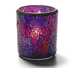 Hollowick 6351BP Crackle Votive Lamp For HD15, HD12 & HD8, 3.25x3-in, Glass, Frosted Blue/Purple