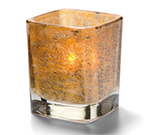 Hollowick 6505AG Tetra Votive For HD8, HD12 & HD15, 3.5x3-in, Antique Gold