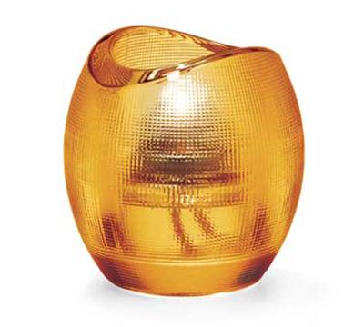 Hollowick 6701A Pixel Tealight Holder w/ Mesh Textured Exterior, 3x2.88-in, Glass, Amber