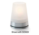 Hollowick 71SC Gemini Globe For GEM29 Base, 3x3-in, Glass, Satin Crystal
