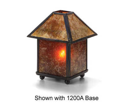 Hollowick 912A 4-Sided Lamp Shade For 1200A & 1201A Mica Lamps, 3.63x2.13-in, Mica