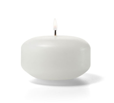 Hollowick FC2W-144 Floating Candle, 2x1.19-in, Wax, White