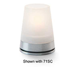 Hollowick GEM29 Gemini Lamp Base For 71SC Globe. 3.13x1.5-in, Brushed Aluminum