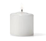 Hollowick P2.5W-36 Pillar Candle, 2.5x2.5-in, Wax, White