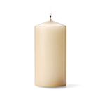 Hollowick P3X6I-12 Pillar Candle, 6x3-in, Wax, Ivory