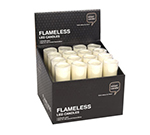Hollowick SCWVIA-48 Flameless Votive Candle w/ Ultra Bright LED & Batteries, 2.5x2-in, Amber
