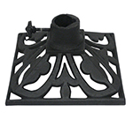 Hollowick TK08045 Adjustable Torch Stand, 9x9x4.75-in, Cast Iron, Deep Charcoal