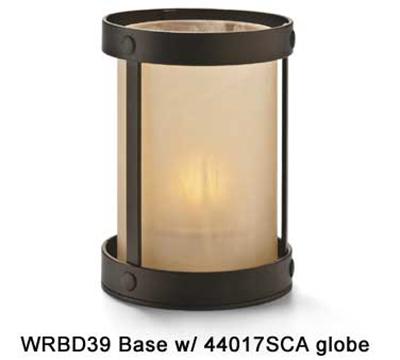 "Hollowick WRBD39 Cylinder Aurora Frame, 4.88x3.5"", Dark Bronze"