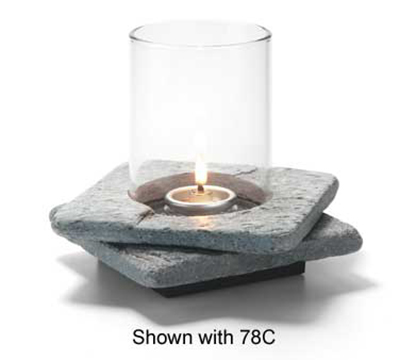 Hollowick ZEN-GSL2 Double Zen Lamp Base For 78C & 78SC, 5.5x1.25-in, Stone, Grey Slate
