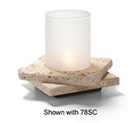 Hollowick ZEN-GTR2 Double Zen Lamp Base For 78C & 78SC, 5.5x1.25-in, Stone, Gold Travertine