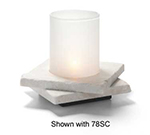 Hollowick ZEN-WMB2 Double Zen Lamp Base For 78C & 78SC, 5.5x1.25-in, Stone, White Marble