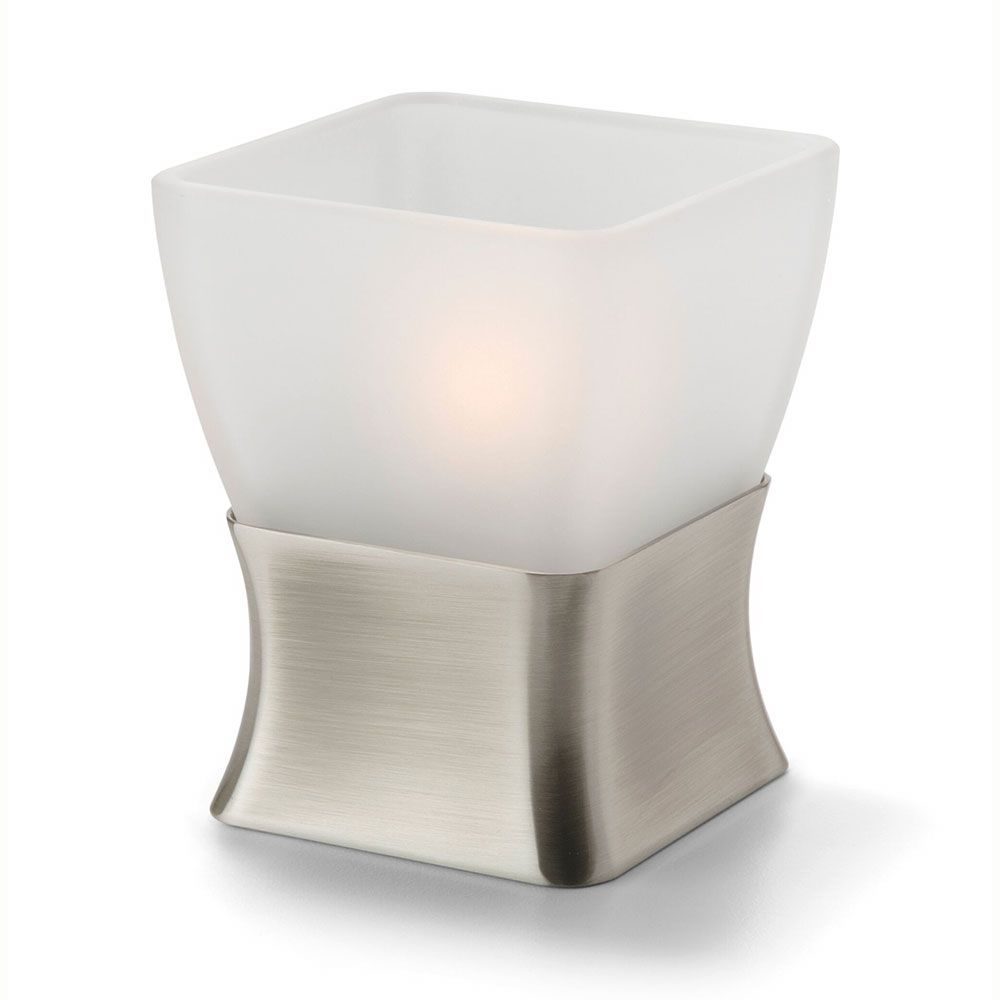 Hollowick OD29 Tealight / Votive Lamp Base, Metal, Odyssey, Satin Pewter, Use 67SC Globe