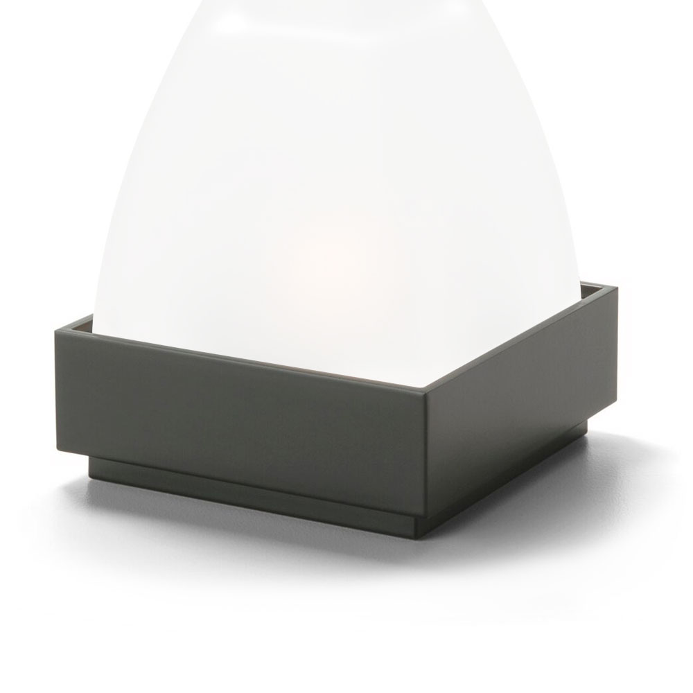 "Hollowick PF31 Square Votive Lamp Base for 675SC Globe, 3.25x1.25"", Metal, Black"