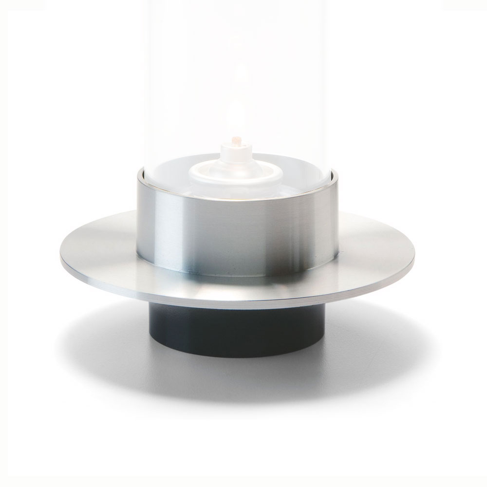 "Hollowick SAT29 Saturn Lamp Base for 78C & 78SC, 4.63x2.5"", Brushed Aluminum"