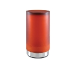 Hollowick SCH811-CA Cylinder Style Flameless Candle Holder, Amber w/ Chrome Bottom