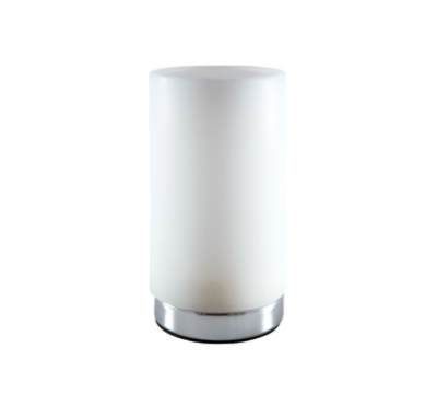 Hollowick SCH811-CW Cylinder Style Flameless Candle Holder, White w/ Chrome Bottom