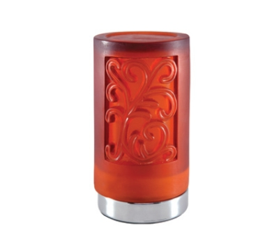 Hollowick SCH831-CA Cylinder Style Flameless Candle Holder, Acanthus Amber