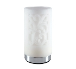 Hollowick SCH831-CW Cylinder Style Flameless Candle Holder, Acanthus White