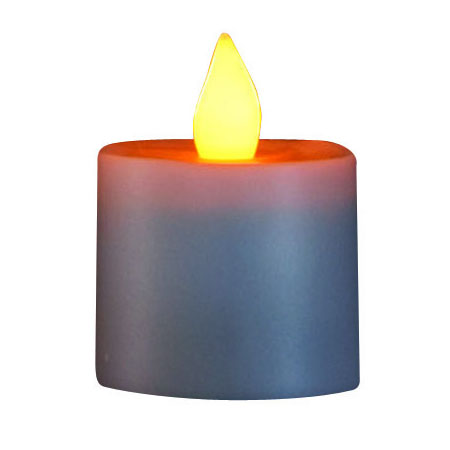 Hollowick SCRP-A Replacement Platinum Flameless Candle, Amber