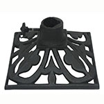 "Hollowick TK08045 Adjustable Torch Stand, 9x9x4.75"", Cast Iron, Deep Charcoal"