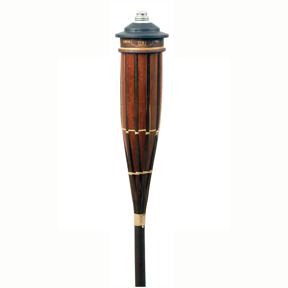 "Hollowick TK10221 Royal Polynesian Torch w/ 16-oz Refillable Fuel Canister, 3.62x60"", Bamboo"