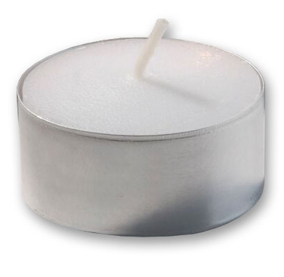 Hollowick TL7W-400 7-hr Metal Cup Tealight Candles