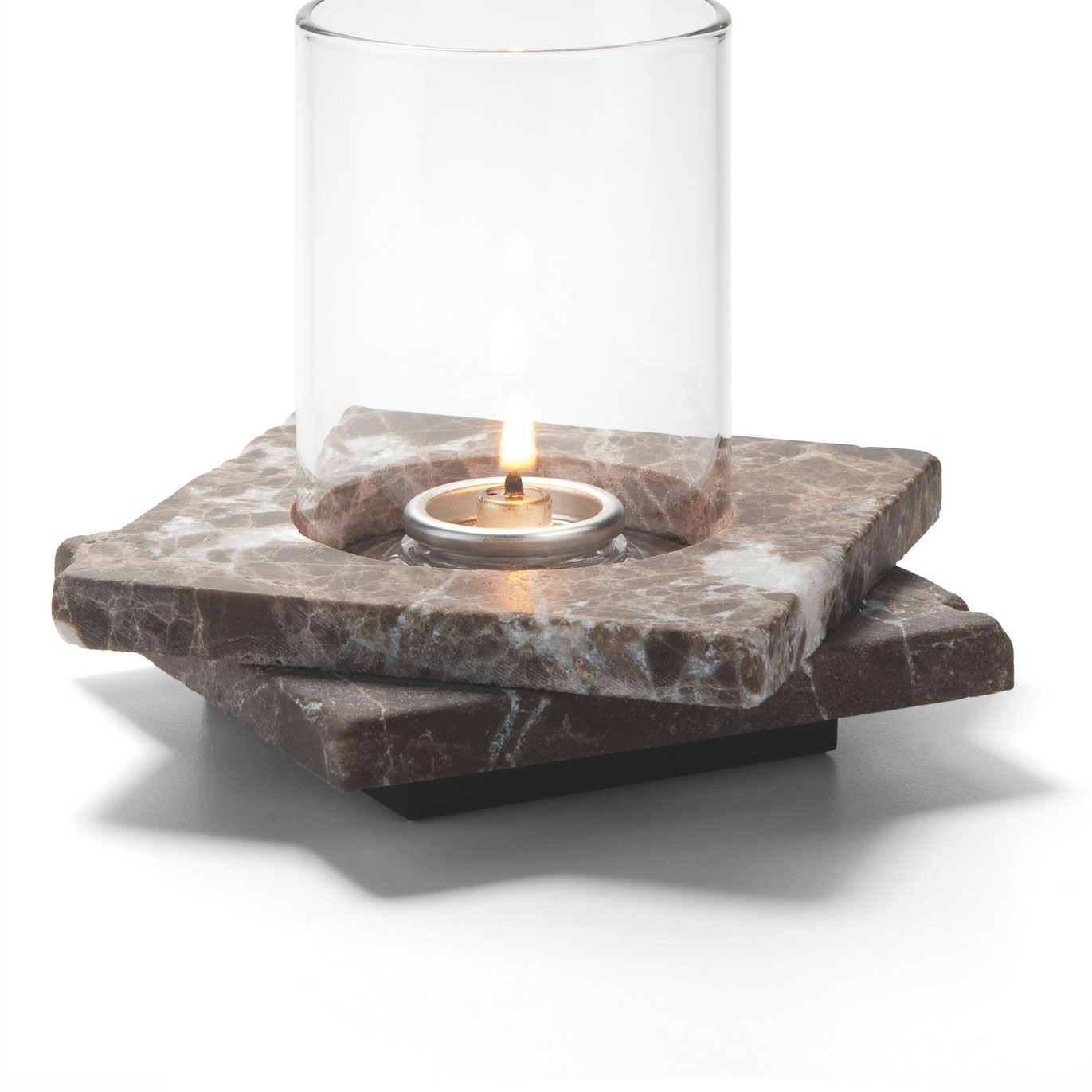 "Hollowick ZEN-DEM2 Double Zen Lamp Base for 78C & 78SC, 5.5x1.25"", Stone, Dark Emperador"
