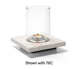 Hollowick ZEN-WMB Square Lamp Base, Single, Stone, White Marble, 4x4.88-in