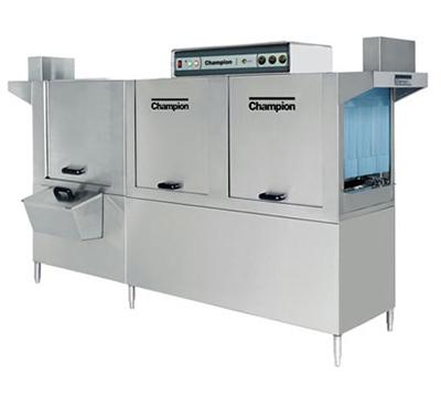 Champion 120HDPW 4803 Conveyor Hi-Temp Dishwasher w/ 2-Tanks & 36-in Prewash, 356-Racks/hr, 480/3V