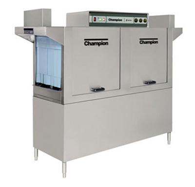 Champion 64 5753 Conveyor Hi-Temp Dishwasher w/ 2-Auto Fill Tanks, 278-Racks/hr, 575/3V