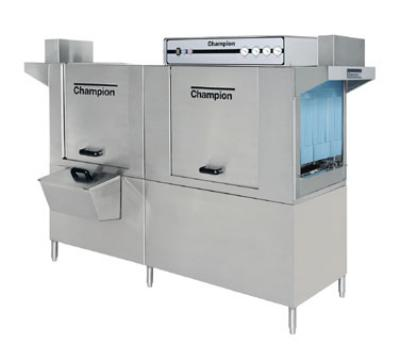 Champion 80DRHDPW 2083 Conveyor Dishwasher w/ 36-in Prewash, 44-in Tank, 208-Racks/Hr, 208/3V