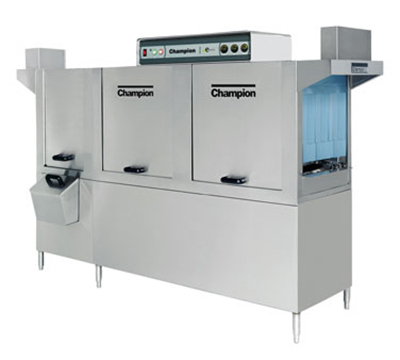 Champion 86PW 2403 Conveyor Hi-Temp Dishwasher w/ 2-Tanks & 22-in Prewash, 278-Racks/hr, 240/3V
