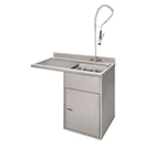 Champion 1-RDT-L Table System w/ Scrapping & Soaking Sink, Sink Left of Machine