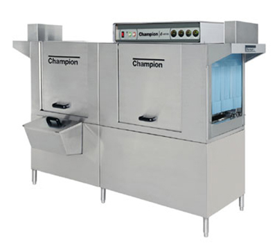Champion 90DRHDPW 5753 Dishwasher w/ Conveyor-Type Rack, 54-in Tank & 36-in Prewash, 575/3 V