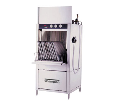 Champion SD-10-E 4803 Pot & Pan Washer w/ Rack & Built-in Booster Heater, Split Door Design, 480/3 V