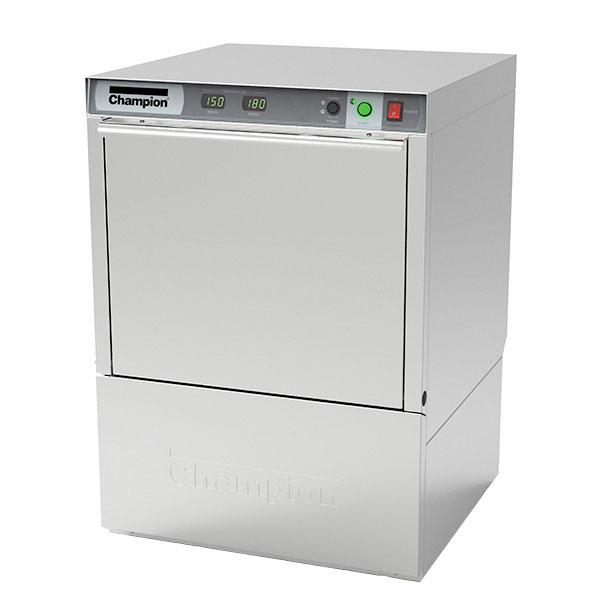 Champion UH-130B(40) 2081 Undercounter Dishwasher with High Temp, 25-Racks/Hr, 208/60/1v