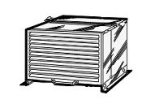 Frosty Factory F9981 Steel Condenser Unit Cover, Weather Cover For Outside Of Condenser