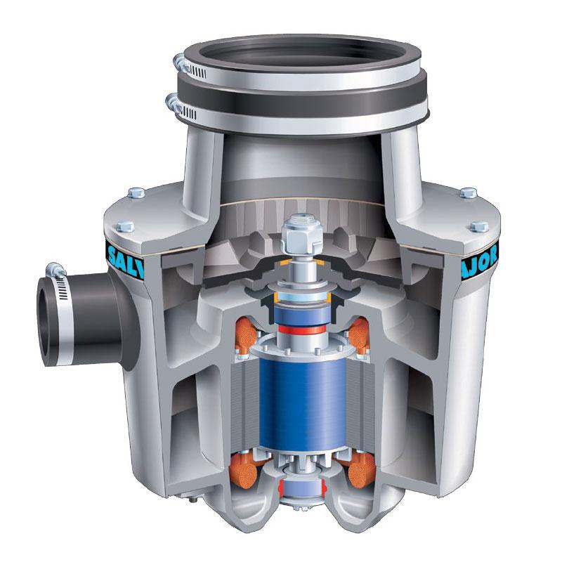 Salvajor 100 Disposer, Basic Unit Only, 1 HP Motor, 115 V