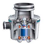 Salvajor 100 Disposer, Basic Unit Only, 1 HP Motor, 230/1 V