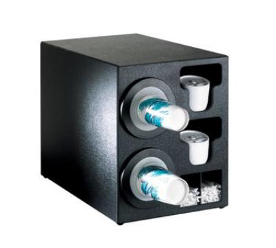 Dispense-rite BFLC2BT Cup Dispensing Cabinet, (2) 8-44 oz Cups, (2) Lid Chutes, (2) Straw Organizer