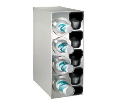 Dispense-rite BFLC4LSS Cup Dispensing Cabinet, (4) 8-44 oz Cups on Left, (4) Lid Chutes, (1) Straw