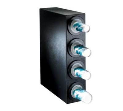 Dispense-Rite BFLS4BT Cup Dispensing Cabinet, (4) 8-44 oz Cups, Black Texture Polystyrene