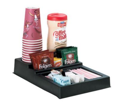 Dispense-rite CCTL1 Cup & Condiment Organizer, 7 Section, Polystyrene, Black
