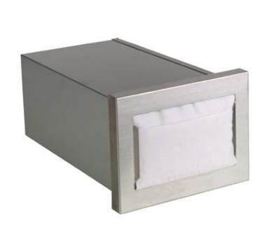 Dispense-rite CMND1 Napkin Dispenser, Built-In, Holds 4-1/2 to 5 in x 6-1/2 in Napkins, Horizontal
