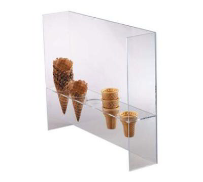 "Dispense-rite CSG5L Ice Cream Cone Holder w/ Guard, (5) 2""Holes, Acrylic, Clear"