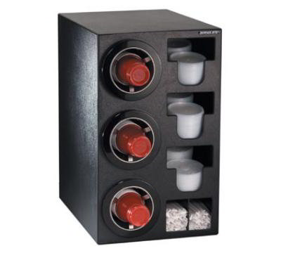 Dispense-rite CTCC3BT Cup Dispensing Cabinet, (3) 8-44 oz Cups, (3) Lid Chutes, (2) Straw Organizer